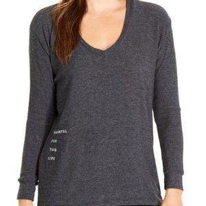 Good hYOUman The Robin Gray V-Neck Sweatshirt M